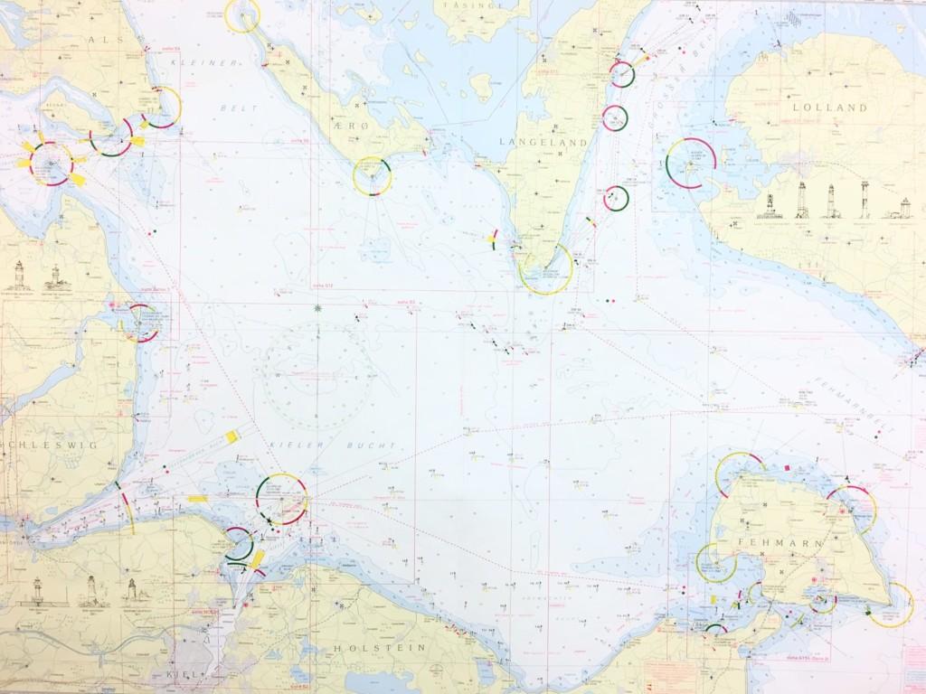 Seekarte von der Ostsee