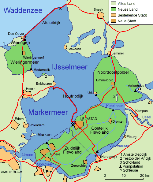 Übersicht über die Region des IJsselmeers